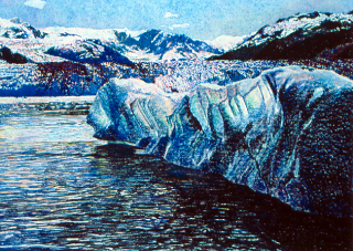 Iceberg-Hubbard Glacier